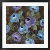 Blue Damask II Framed Print