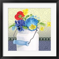 Framed Blue Pansy III no Border