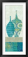 Blue Spice Stripe Panel I Framed Print