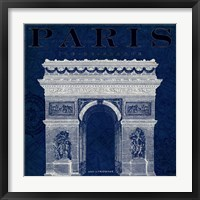 Framed Blueprint Arc de Triomphe