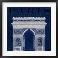 Blueprint Arc de Triomphe Framed Print