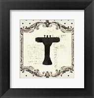 Cartouche Sink Framed Print