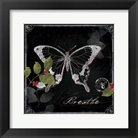 Chalkboard Wings I Framed Print