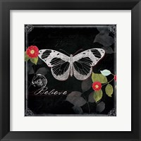 Framed Chalkboard Wings II