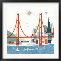Framed Colorful San Francisco
