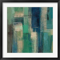 Emerald Fields Square I Framed Print