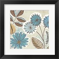 Framed Funky Flowers V