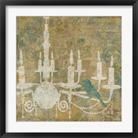 Framed Faded Ornate I Aqua