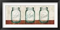 Flea Market Mason Jars Panel II Table Framed Print
