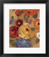 Jacquard Floral I Crop Framed Print