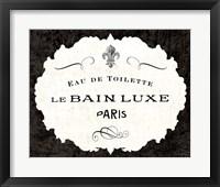 Framed Le Bain Luxe I