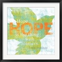 Framed Letterpress Hope