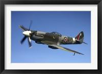 Framed Supermarine Spitfire Mk XVIII fighter warbird