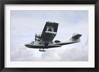Framed PBY Catalina vintage flying boat