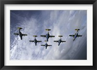 Framed Saab 105 jet trainers of the Swedish Air Force