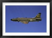 Framed Saab J 32 Lansen fighter