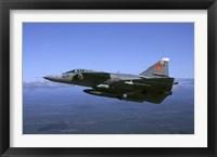 Framed Saab JA 37 Viggen fighter of the Swedish Air Force