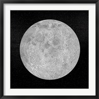 Framed Artists concept of a full moon in the universe at night
