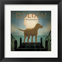 Framed Moonrise Yellow Dog