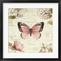 Marche de Fleurs Butterfly I Framed Print