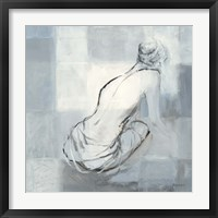 Framed Nude Figure Study on Gray I