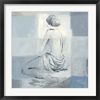 Framed Nude Figure Study on Gray II