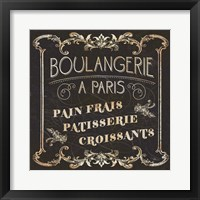 Parisian Signs Square I no Border Framed Print