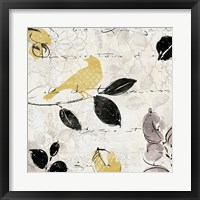 Plume and Motif I Framed Print