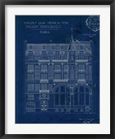 Quai Henri Blueprint I Framed Print