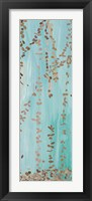 Framed Trailing Vines II Blue
