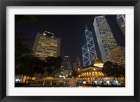 Framed City Skyline, Statue Square, Hong Kong, China