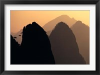 Framed China, Huangshan Mountains, Sunlight