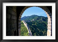 Framed China, Huairou, Mutianyu, Great Wall, turret window