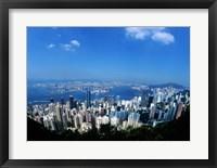Framed Majestic Hong Kong Harbor from Victoria Peak, Hong Kong, China