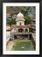 Framed Sri Guru Nanak Ji Gurdwara Shrine, Manikaran, Himachal Pradesh, India
