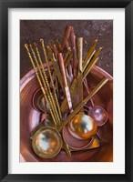 Framed Metal spoons, Lijiang Market, Lijiang, Yunnan Province, China