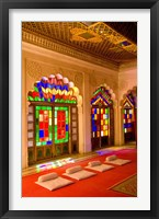 Framed Stained Glass Windows of Fort Palace, Jodhpur at Fort Mehrangarh, Rajasthan, India