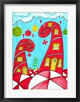Framed Candy Cane Houses II