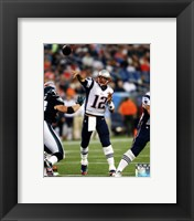 Framed Tom Brady 2014 throwing the ball