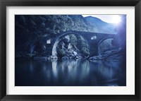 Framed Dyavolski most arch bridge in the Rhodope Mountains, Ardino, Bulgaria
