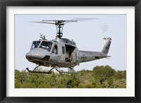 Framed US Air Force TH-1H Huey II during a training sortie in Alabama
