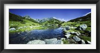 Framed Ribno Banderishko River in Pirin National Park, Bulgaria