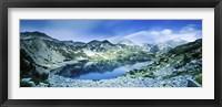 Framed View of Ribno Banderishko Lake in Pirin National Park, Bulgaria