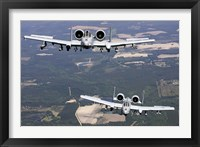Framed Two A-10C Thunderbolt aircraft near Moody Air Force Base, Georgia