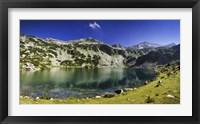 Framed Ribno Banderishko Lake in Pirin National Park, Bansko, Bulgaria