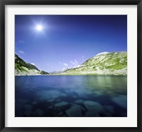 Framed Okoto Lake in the Pirin Mountains, Pirin National Park, Bulgaria