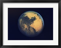 Framed Mars seen through the Hubble Telescope