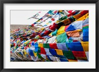 Framed India, Jammu and Kashmir, Ladakh, Namshangla Pass prayer flags