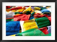 Framed Prayer flags, Namshangla Pass, Ladakh, India
