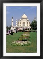 Framed Taj Mahal in Agra, India